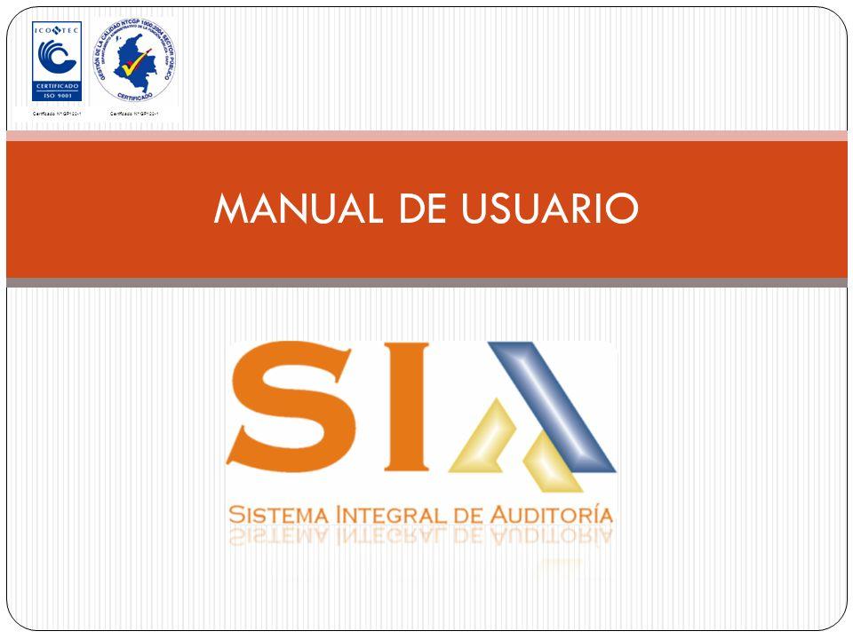 MANUAL DE USUARIO Certificado Nº GP122-1