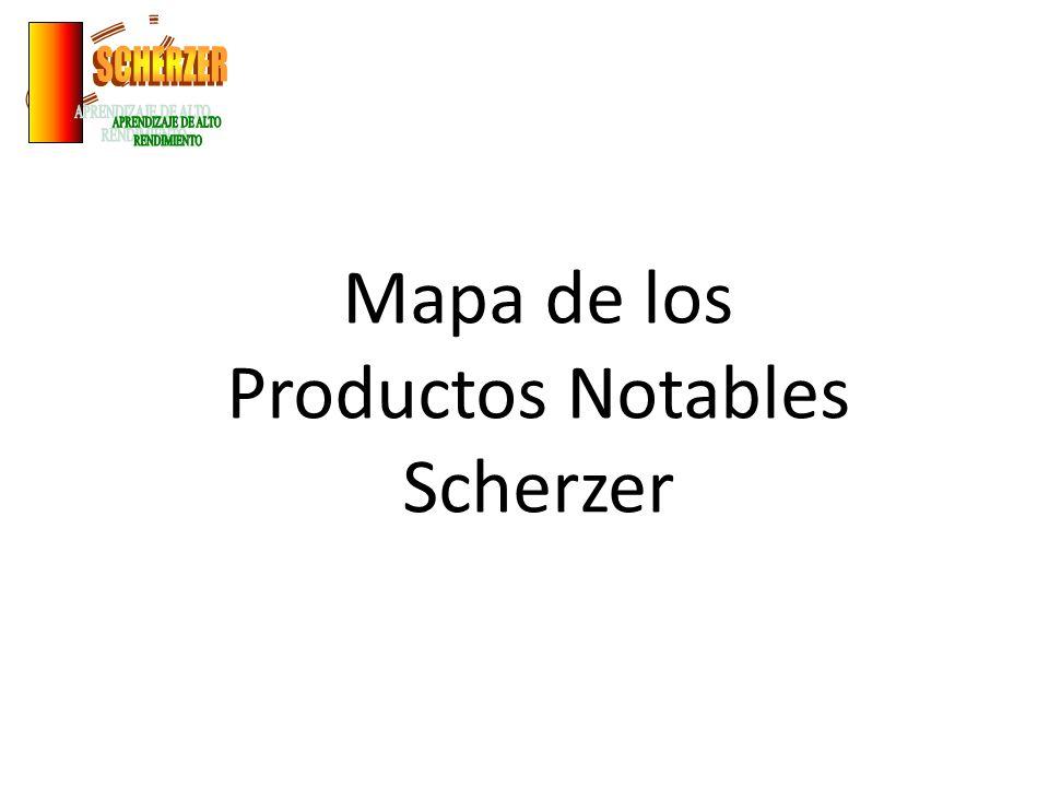 Mapa de los Productos Notables Scherzer