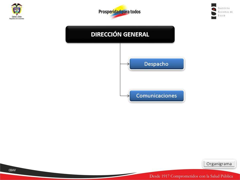Comunicaciones Despacho Organigrama DIRECCIÓN GENERAL CBAV