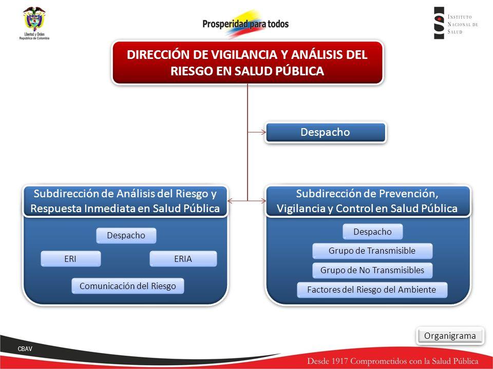 Despacho ERIAERI Comunicación del Riesgo Despacho Subdirección de Análisis del Riesgo y Respuesta Inmediata en Salud Pública Subdirección de Prevenció