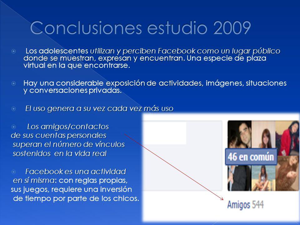utilizan y perciben Facebook como un lugar público donde se muestran, expresan y encuentran Los adolescentes utilizan y perciben Facebook como un luga