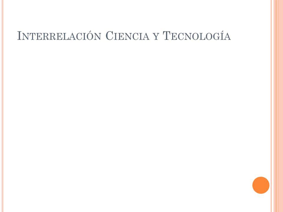 I NTERRELACIÓN C IENCIA Y T ECNOLOGÍA