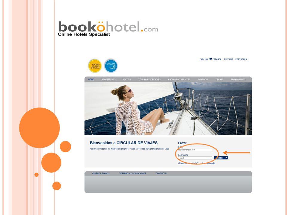 Menu adicional: Le permite al asesor adicionar otro servicio u hotel dentro de la misma reserva antes de finalizarla.