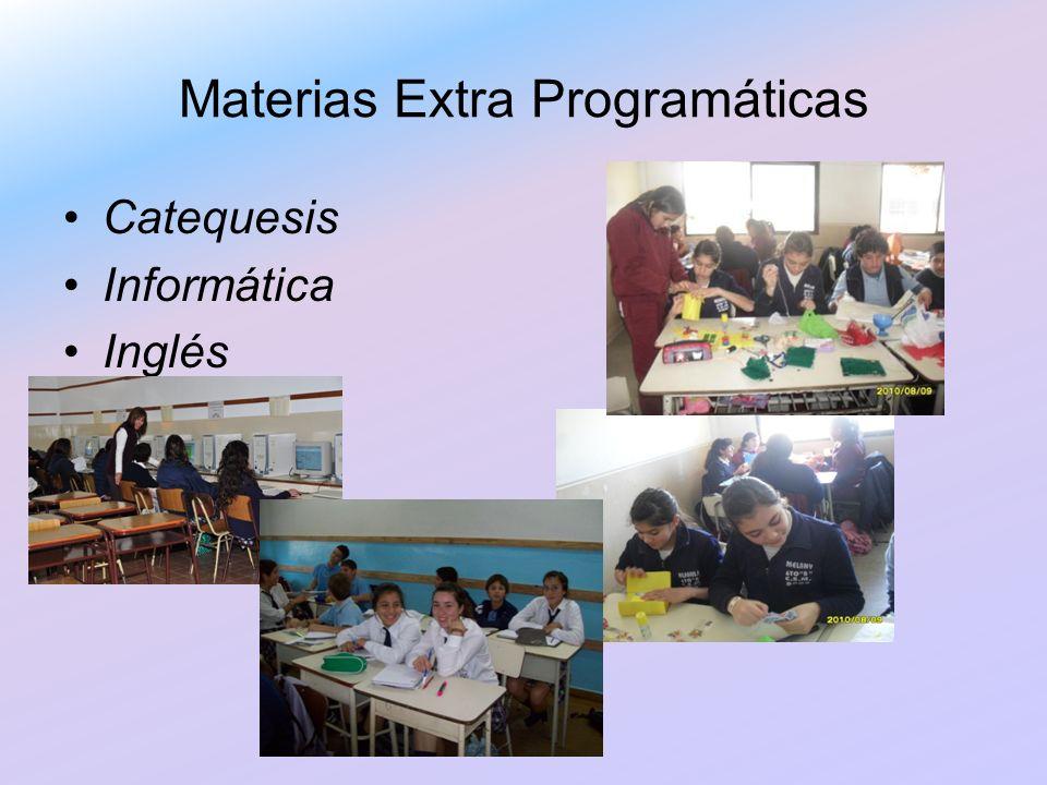 Materias Extra Programáticas Catequesis Informática Inglés