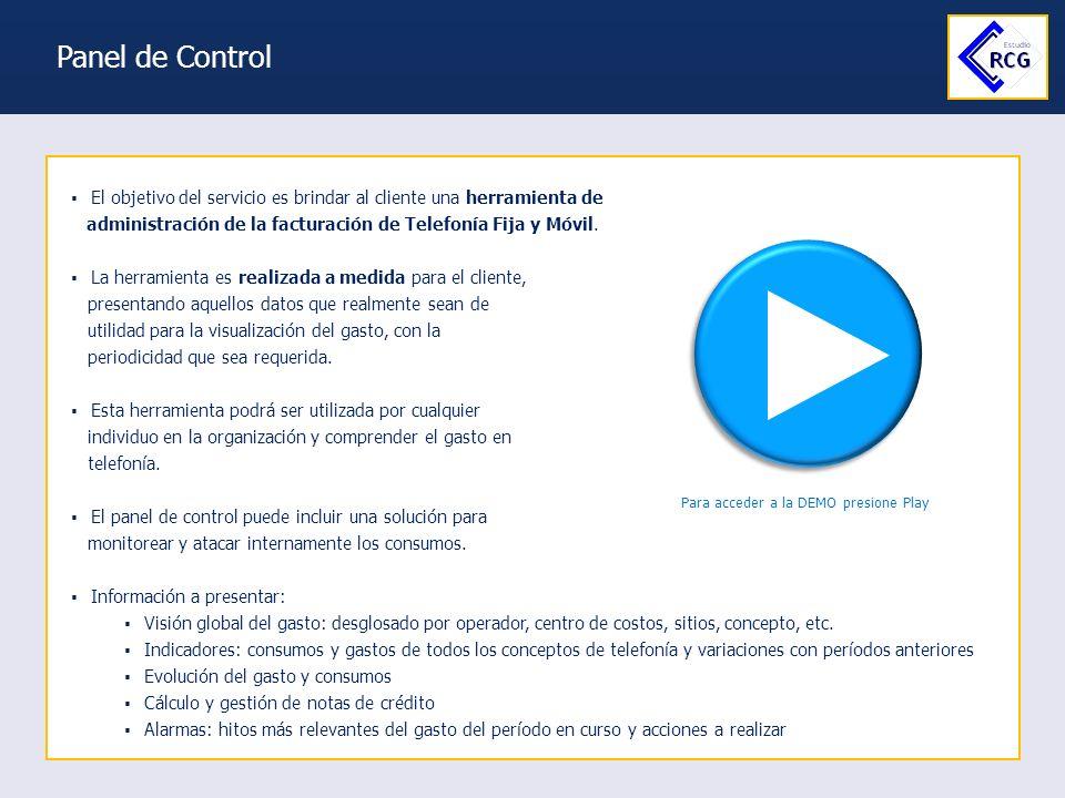 Soluciones en Telecomunicaciones Vidal, Minardi & Asociados Panel de Control