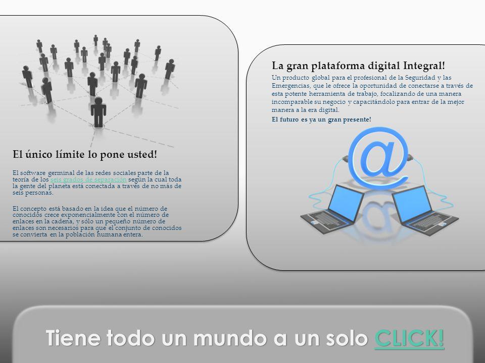 La gran plataforma digital Integral! Un producto global para el profesional de la Seguridad y las Emergencias, que le ofrece la oportunidad de conecta