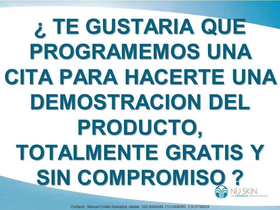 ¿ TE GUSTARIA QUE PROGRAMEMOS UNA CITA PARA HACERTE UNA DEMOSTRACION DEL PRODUCTO, TOTALMENTE GRATIS Y SIN COMPROMISO ? Contacto : Manuel Cortés Grana