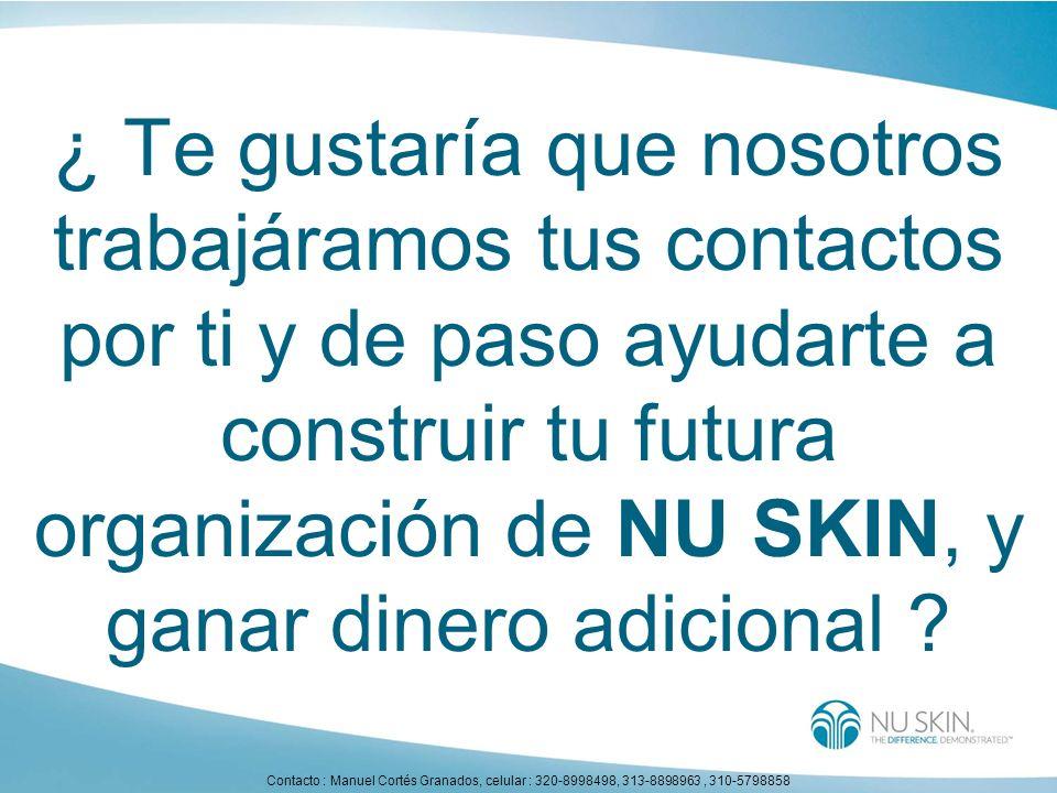 ¿ Te gustaría que nosotros trabajáramos tus contactos por ti y de paso ayudarte a construir tu futura organización de NU SKIN, y ganar dinero adiciona