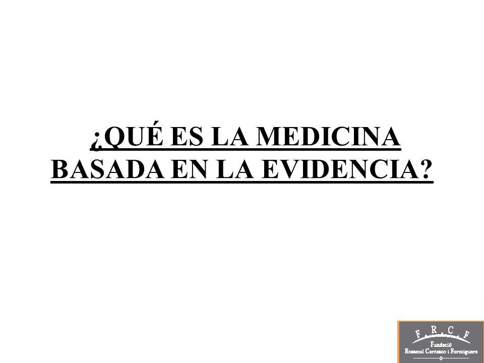Bibliografía Que es y que no es la medicina basada en pruebas.