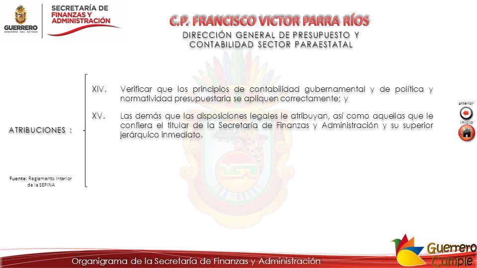 DIRECCIÓN GENERAL DE PRESUPUESTO Y CONTABILIDAD SECTOR PARAESTATAL DIRECCIÓN GENERAL DE PRESUPUESTO Y CONTABILIDAD SECTOR PARAESTATAL ATRIBUCIONES : X