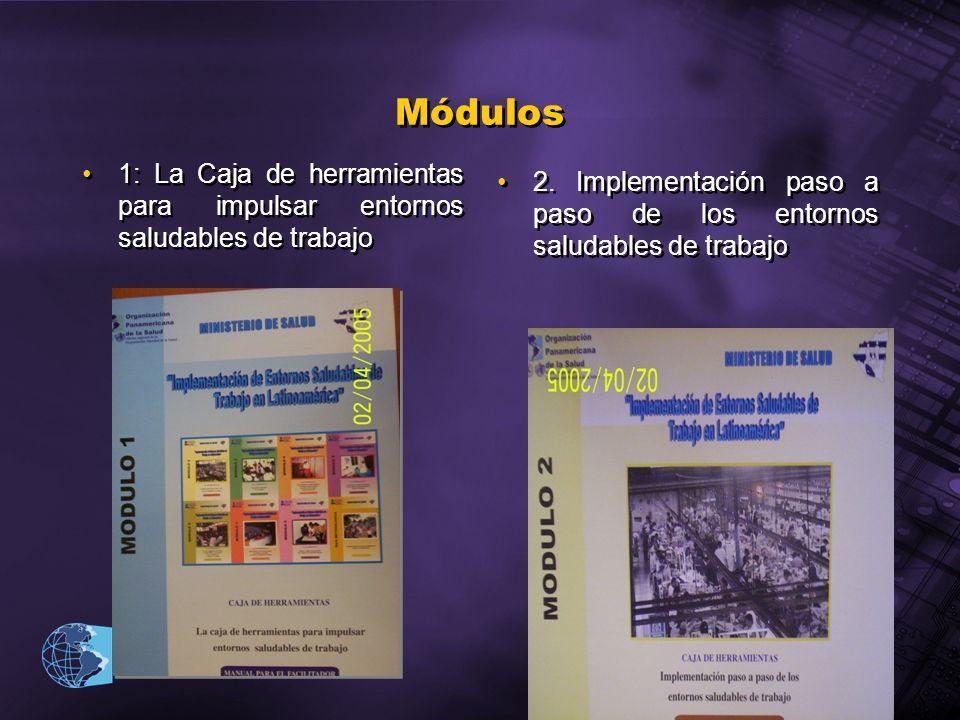 2003 Organización Panamericana de la Salud Módulos 1: La Caja de herramientas para impulsar entornos saludables de trabajo 2. Implementación paso a pa