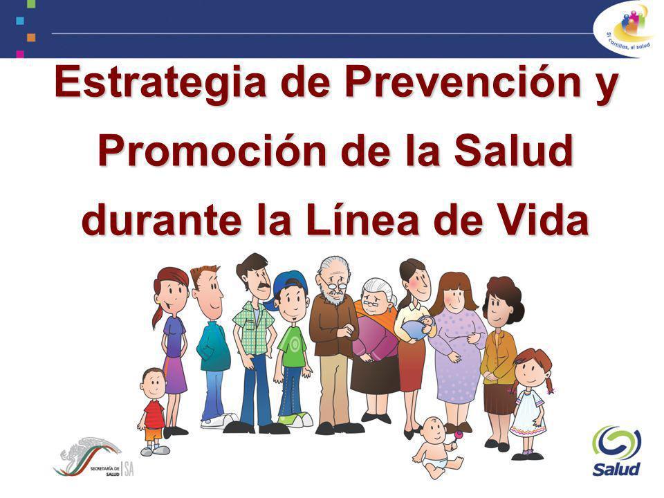Recién nacido (menor de 1 mes) 5 - 9 años 10 – 19 años 20 - 59 (Mujeres y Hombres) Mayor de un mes hasta los 4 años 60 y más Embarazo Puerperio Atención antirrábica Acciones por Estado de Vida Acciones de Prevención y Promoción de la Salud durante la Línea de Vida