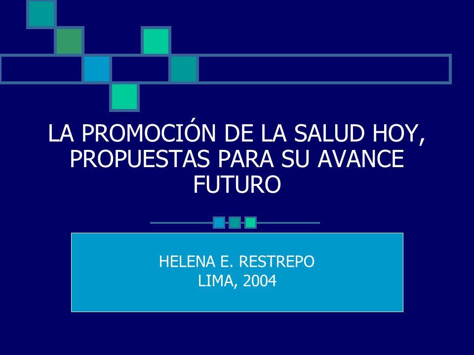 REFERENCIAS Restrepo y Málaga (2001).Promoción de la Salud:Cómo construir vida saludable.