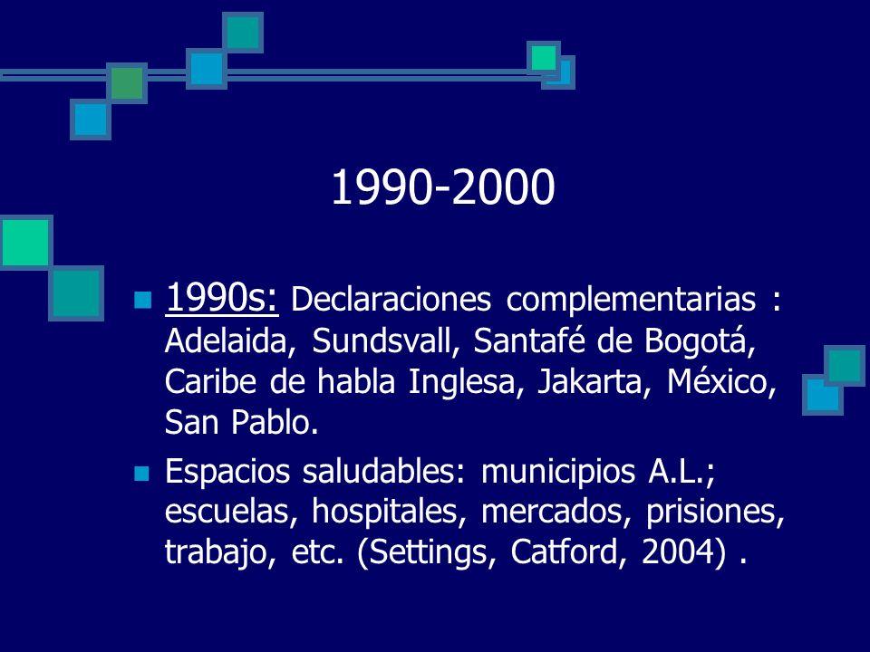 DESAFÍOS FUTUROS INHERENTES A LA PROMOCIÓN: 2000---- Consolidar cuerpo teórico y práctico de la PS.