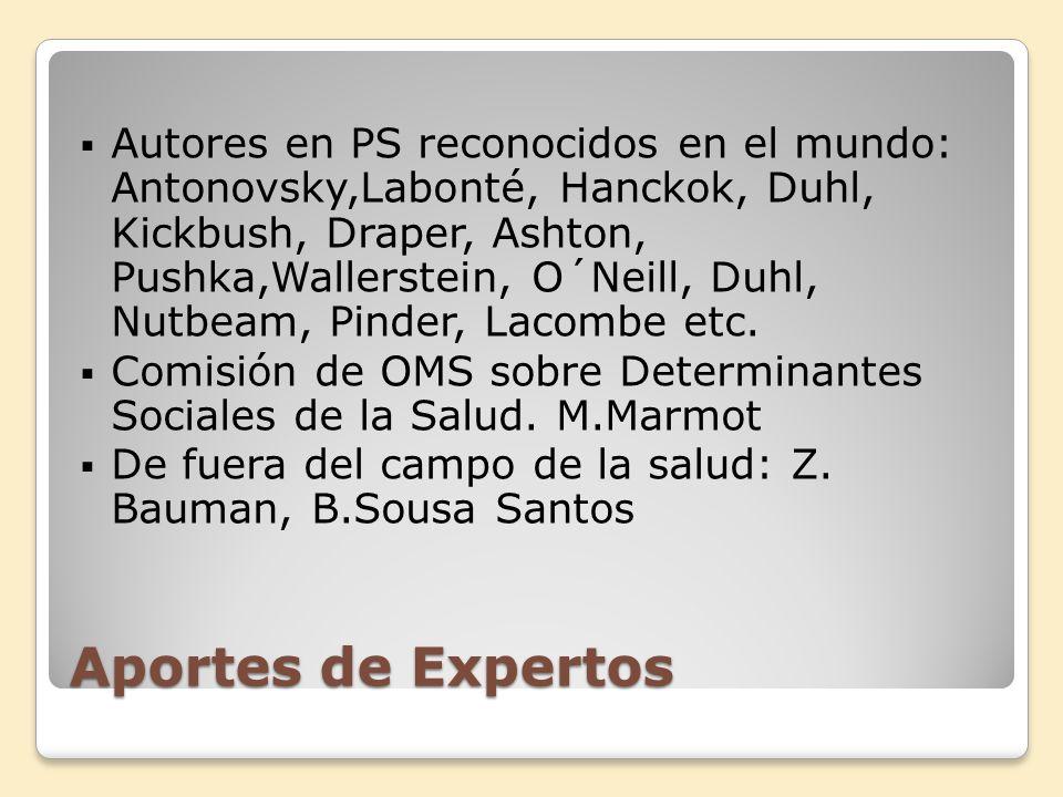 Hechos Negativos Desaparición de la PS en la estructura de instituciones como OPS y en Ministerios de Salud.
