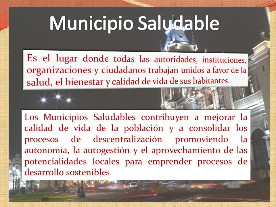 MUNICIPIOS Y COMUNIDAD CENTRO LABORAL INSTITUCIONES EDUCATIVAS E, E. S.S. PROGRAMAS DE PROMOCION DE LA SALUD FAMILIA