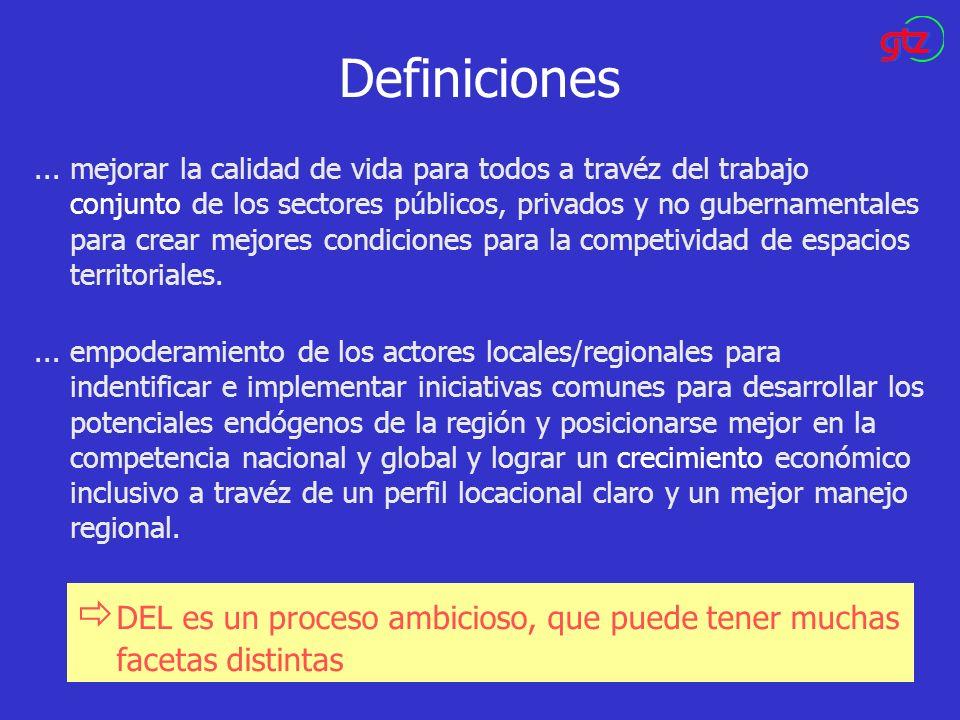 Definiciones... mejorar la calidad de vida para todos a travéz del trabajo conjunto de los sectores públicos, privados y no gubernamentales para crear