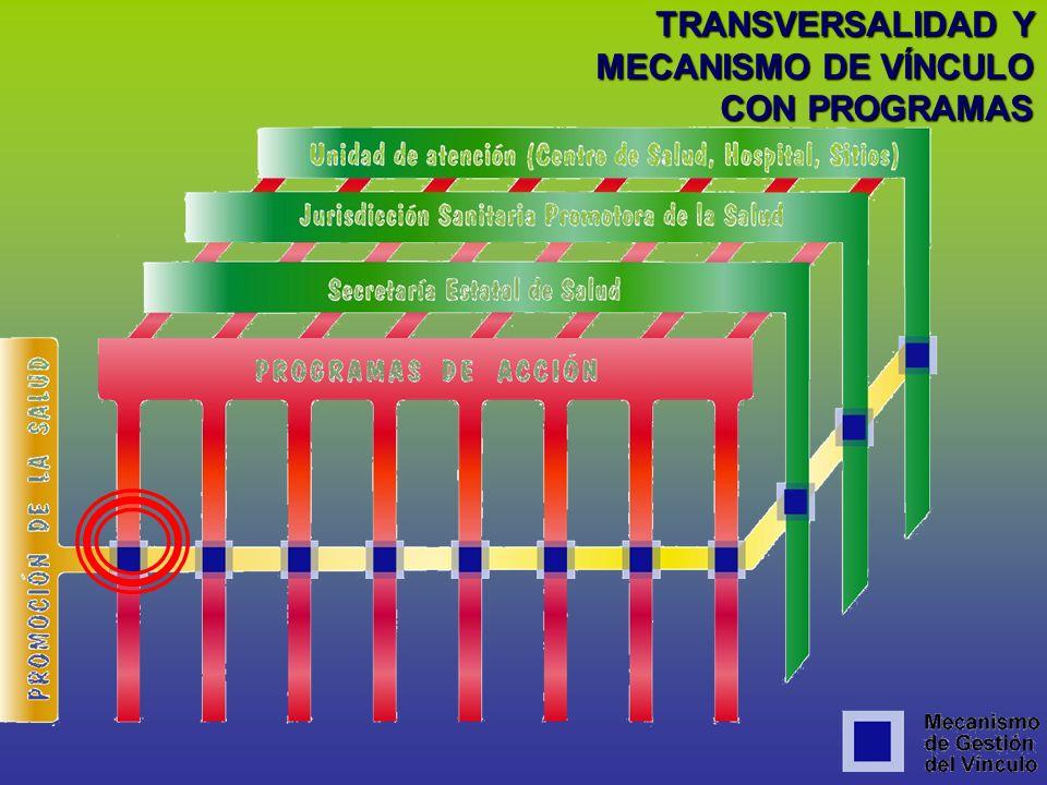 TRANSVERSALIDAD Y MECANISMO DE VÍNCULO CON PROGRAMAS