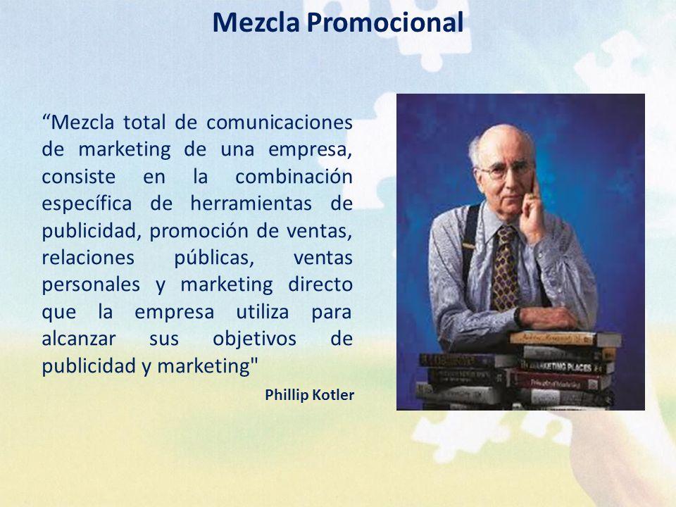 Mezcla total de comunicaciones de marketing de una empresa, consiste en la combinación específica de herramientas de publicidad, promoción de ventas,