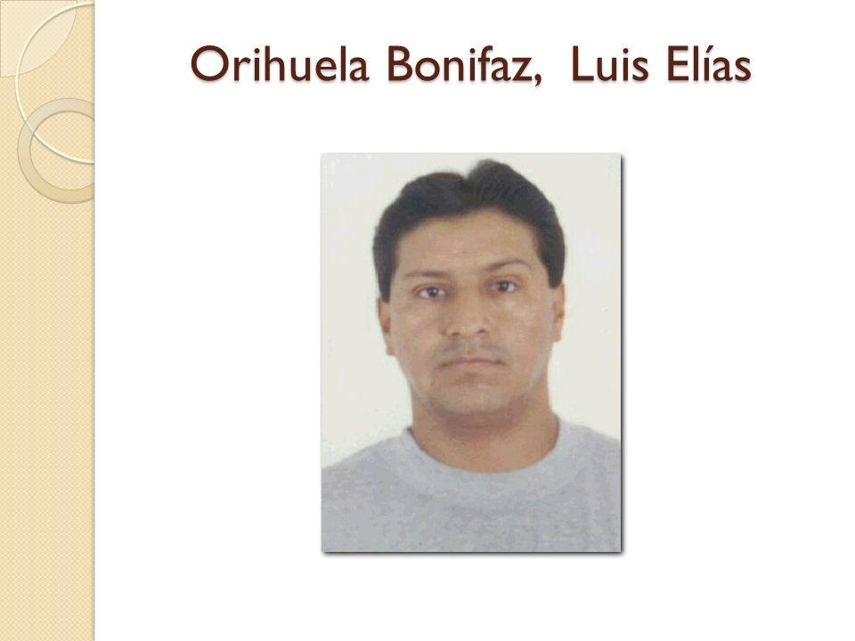 Orihuela Bonifaz, Luis Elías