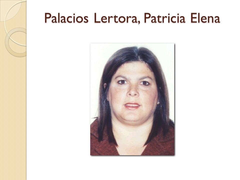 Palacios Lertora, Patricia Elena