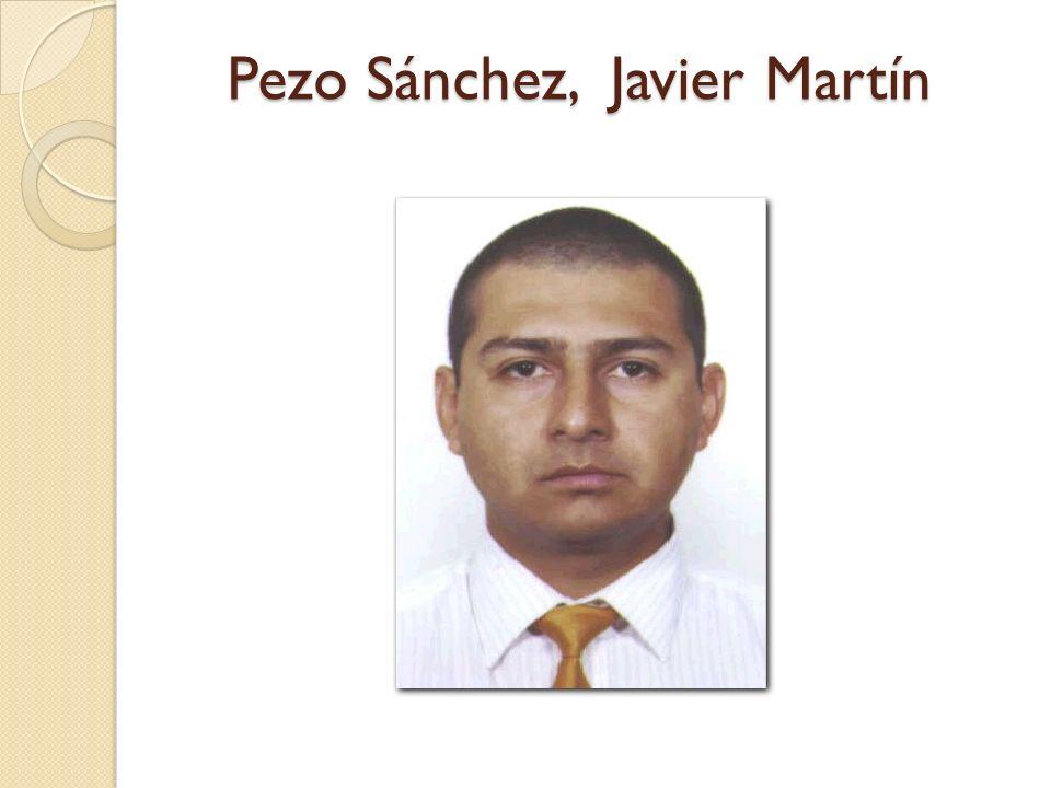 Pezo Sánchez, Javier Martín