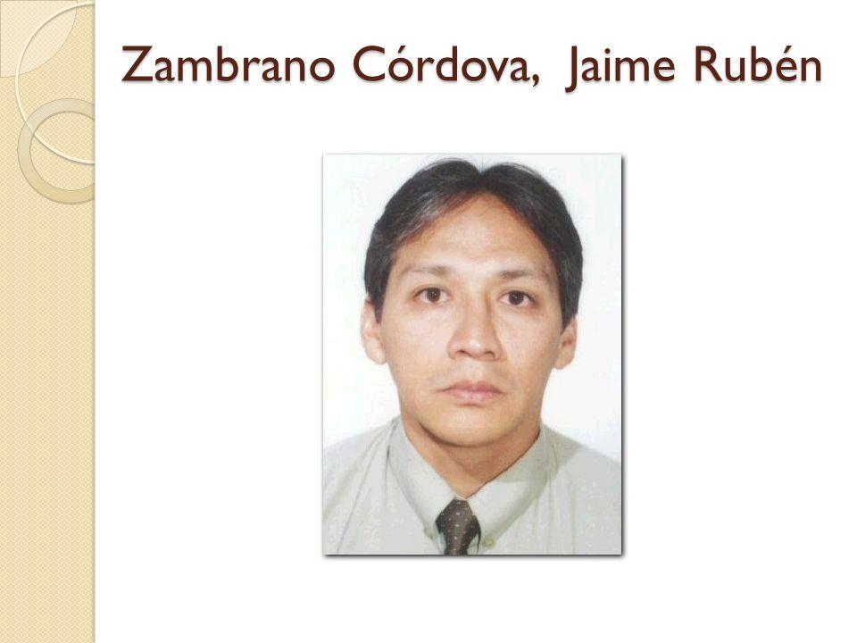 Zambrano Córdova, Jaime Rubén