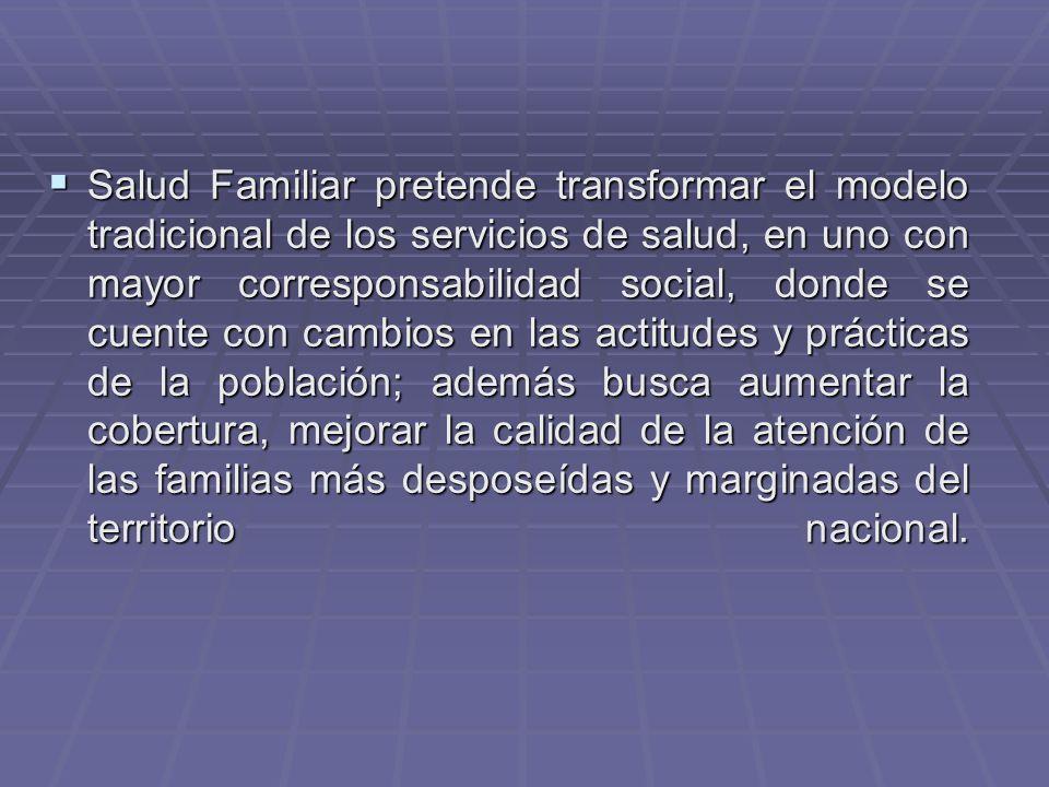 Definición de las siete características de la Atención en Salud Familiar (Declaración de la OMS) 1.-General 1.-General a.-No hay selección de problemas a nivel de la población general, abarca la totalidad de las patologías.....