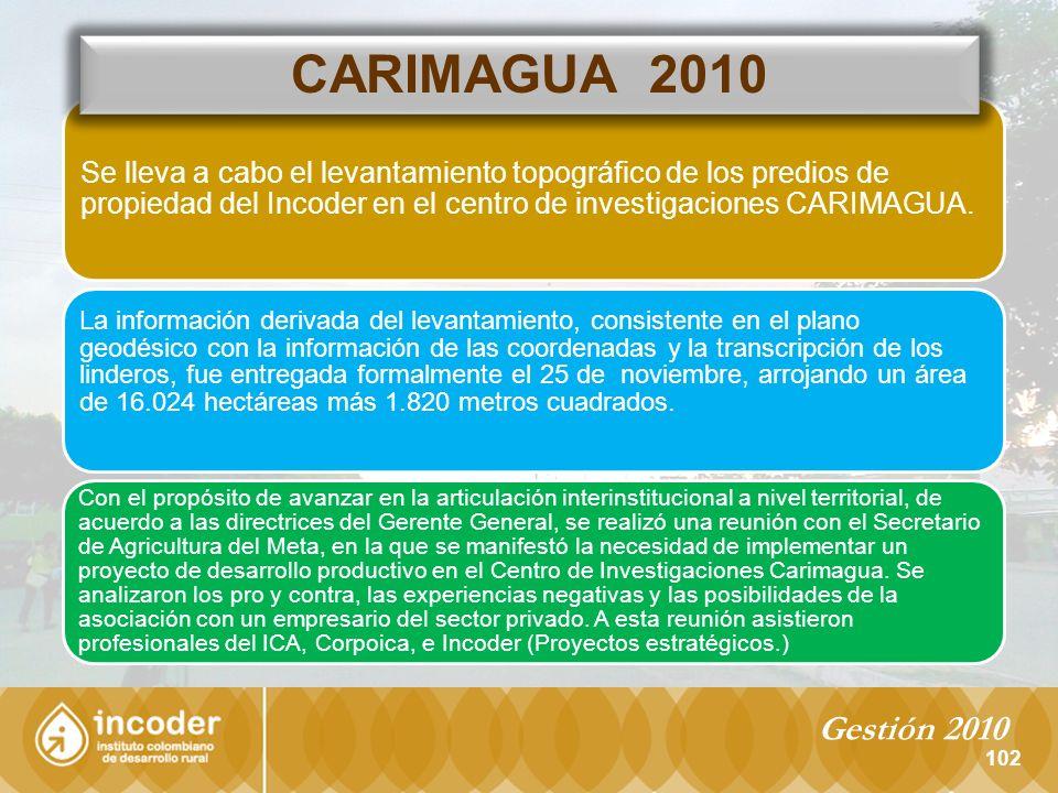 102 Se lleva a cabo el levantamiento topográfico de los predios de propiedad del Incoder en el centro de investigaciones CARIMAGUA.