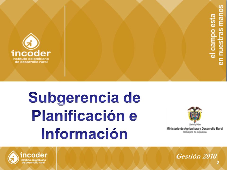 Para la Fase II del proyecto Triángulo del Tolima, durante el 2010 se adelantó en: El ajuste al plan agropecuario; Impermeabilización de la presa Zanja Honda; Diseños de canales principales; Ejecución en inversiones ambientales en convenio con CORTOLIMA; Actualización de costos del proyecto; Obtención acta de compromiso de usuarios e implementación del plan agropecuario con IICA Gestión 2010