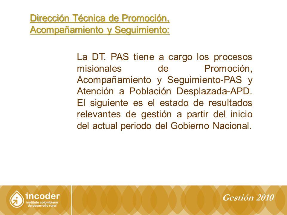 Dirección Técnica de Promoción, Acompañamiento y Seguimiento: La DT.