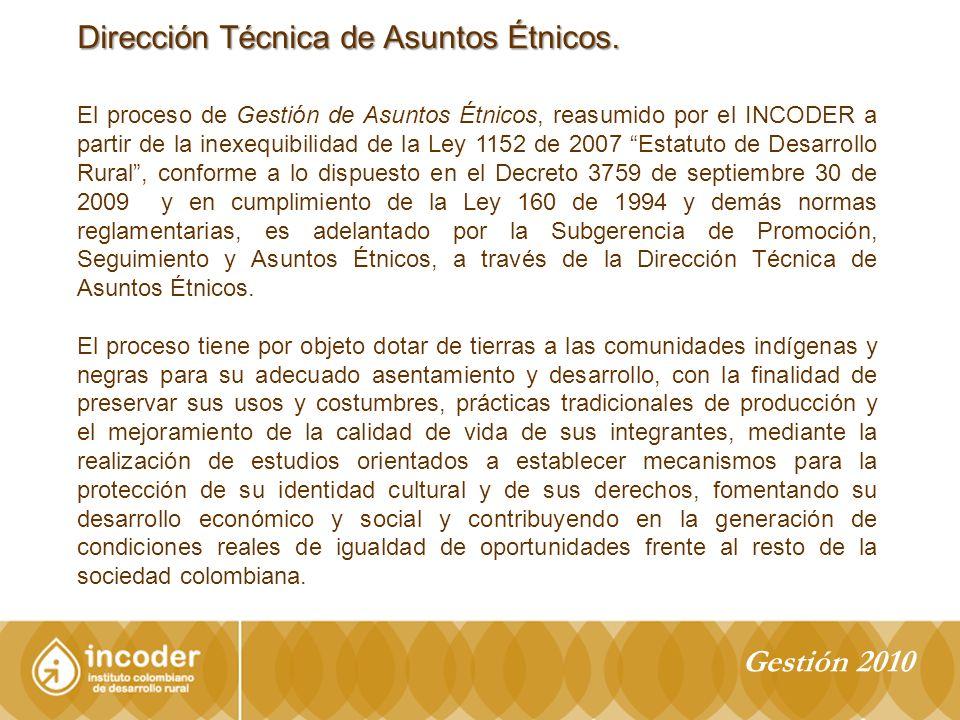Dirección Técnica de Asuntos Étnicos.
