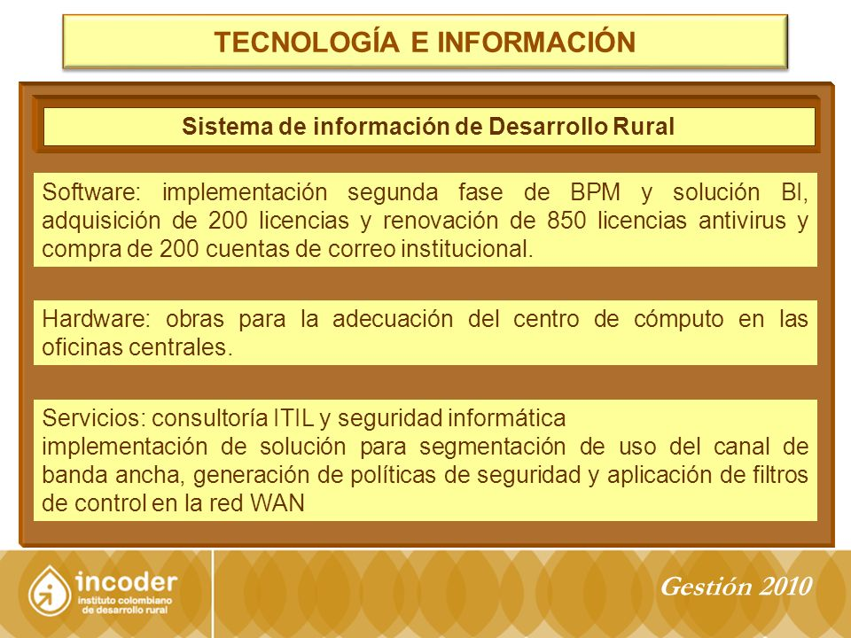 PROYECTO RÍO RANCHERÍA Gestión 2010