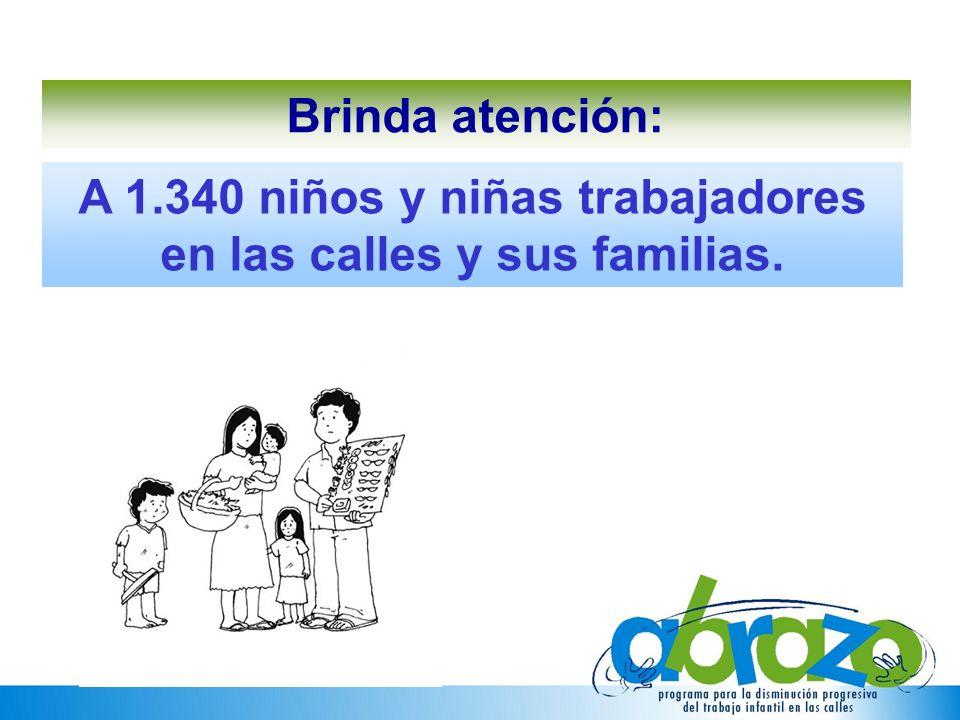 Brinda atención: A 1.340 niños y niñas trabajadores en las calles y sus familias.