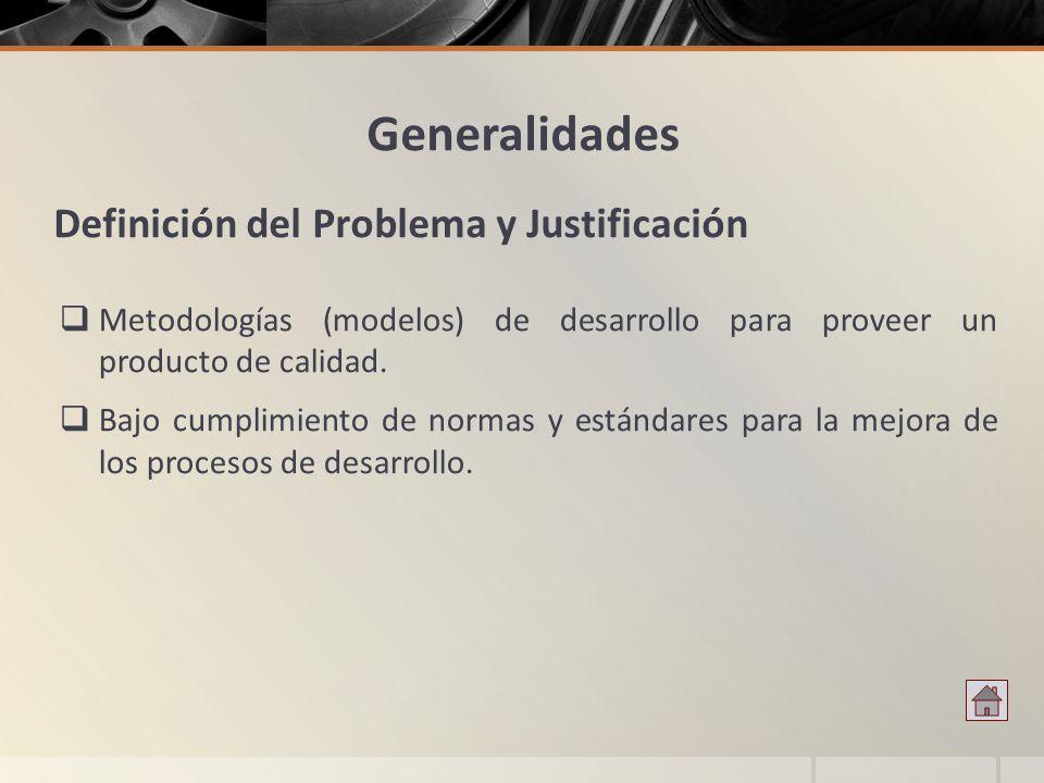 Metodologías (modelos) de desarrollo para proveer un producto de calidad. Bajo cumplimiento de normas y estándares para la mejora de los procesos de d