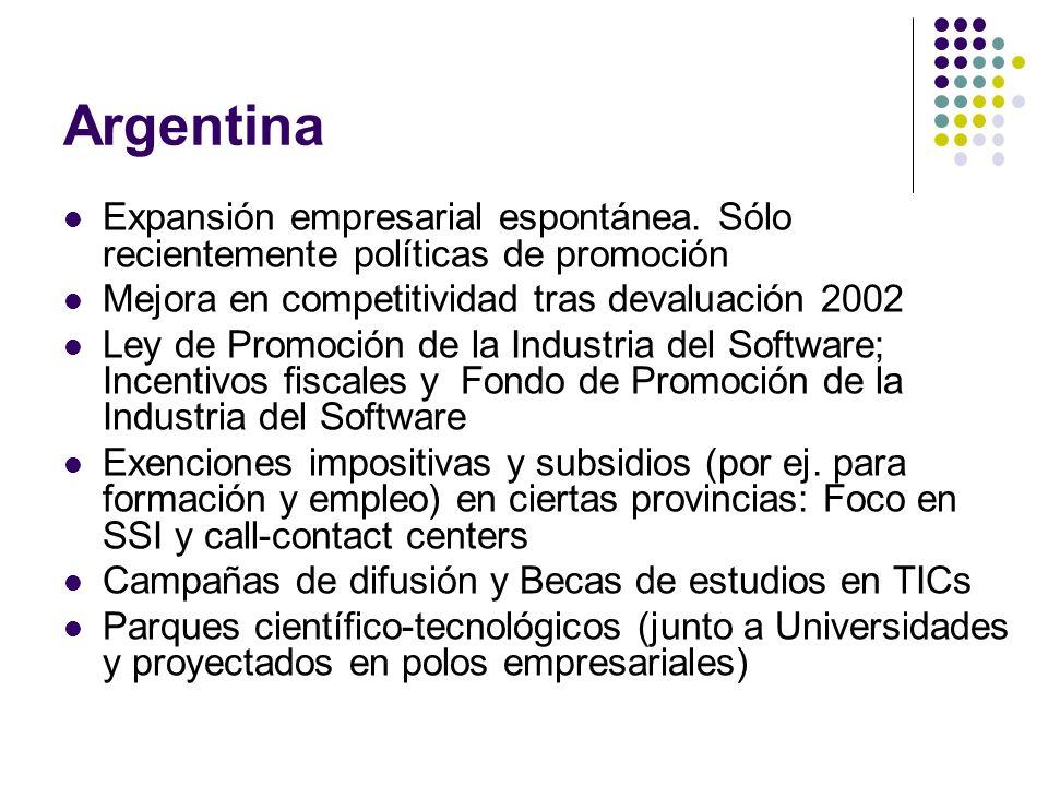 Argentina Expansión empresarial espontánea.