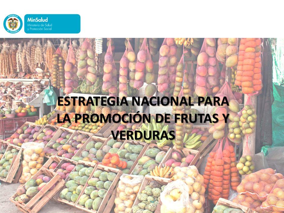 ESTRATEGIA NACIONAL PARA LA PROMOCIÓN DE FRUTAS Y VERDURAS