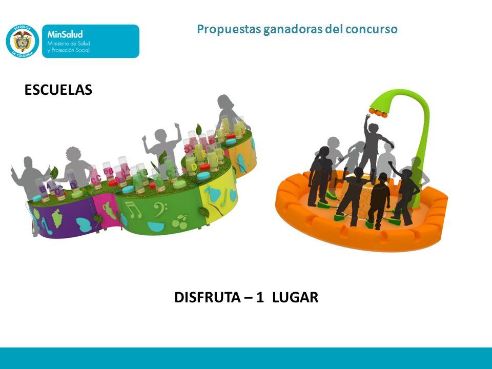 Propuestas ganadoras del concurso ESCUELAS DISFRUTA – 1 LUGAR