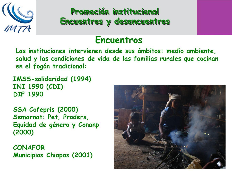 Las instituciones intervienen desde sus ámbitos: medio ambiente, salud y las condiciones de vida de las familias rurales que cocinan en el fogón tradi
