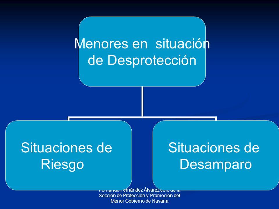 Fernando Fernández Álvarez Jefe de la Sección de Protección y Promoción del Menor Gobierno de Navarra Menores en situación de Desprotección Situaciones de Riesgo Situaciones de Desamparo