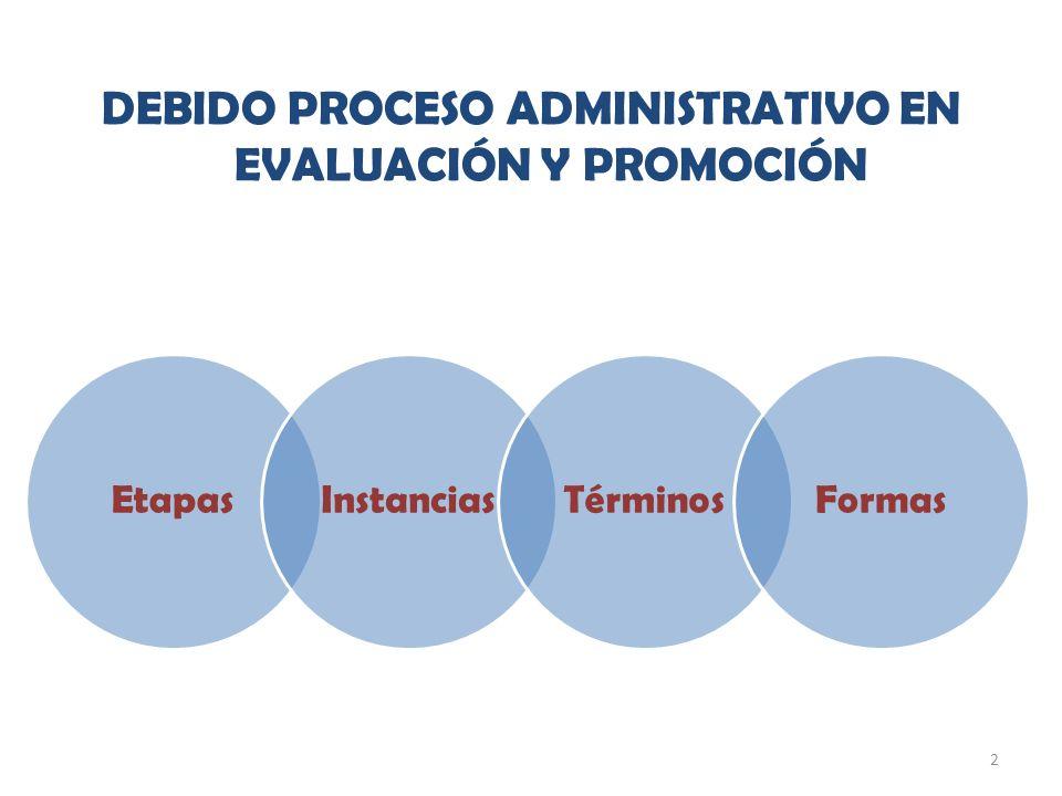 2 DEBIDO PROCESO ADMINISTRATIVO EN EVALUACIÓN Y PROMOCIÓN EtapasInstanciasTérminosFormas