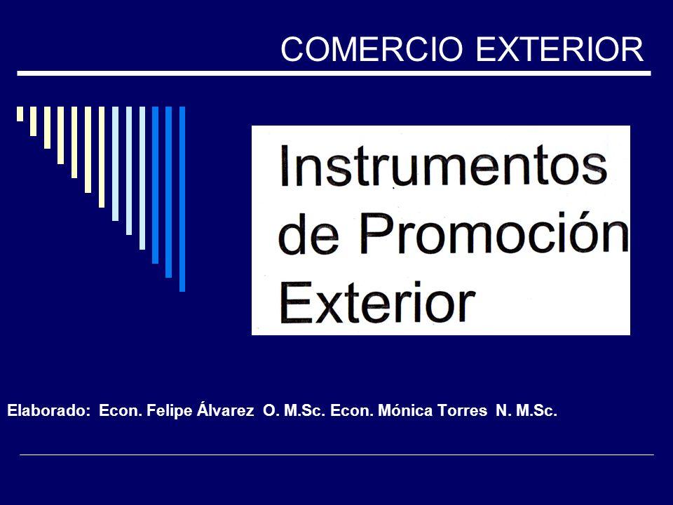 Elaborado: Econ. Felipe Álvarez O. M.Sc. Econ. Mónica Torres N. M.Sc. COMERCIO EXTERIOR
