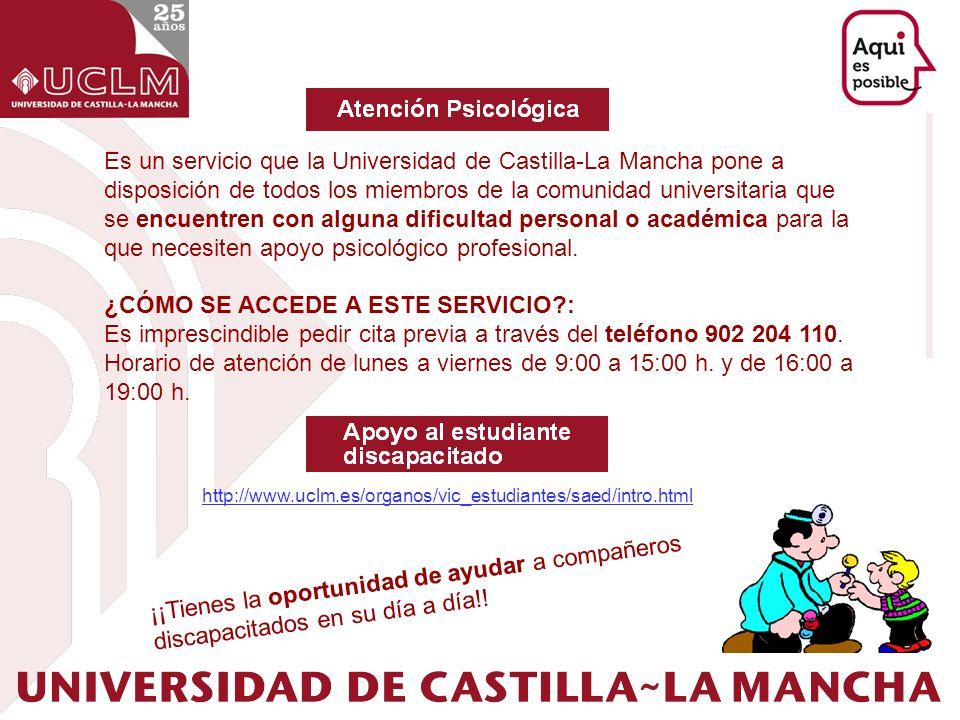 Es un servicio que la Universidad de Castilla-La Mancha pone a disposición de todos los miembros de la comunidad universitaria que se encuentren con a