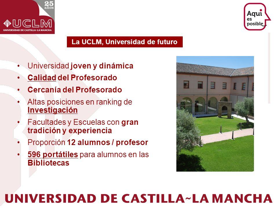 Universidad joven y dinámica CalidadCalidad del Profesorado Cercanía del Profesorado InvestigaciónAltas posiciones en ranking de Investigación Faculta