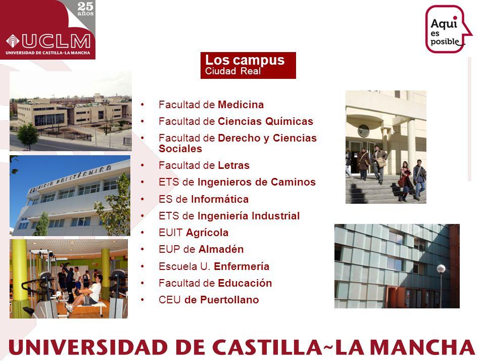 Los campus Ciudad Real Facultad de Medicina Facultad de Ciencias Químicas Facultad de Derecho y Ciencias Sociales Facultad de Letras ETS de Ingenieros