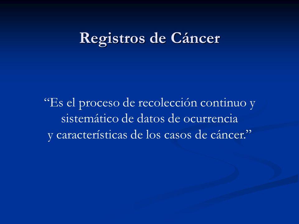Criterio de Diagnóstico : Se considera que existe diagnóstico de cáncer cuando: Se tiene la confirmación por Anatomía Patológica aún en los casos en que en el informe figuren los términos compatible, probable, sospechoso.