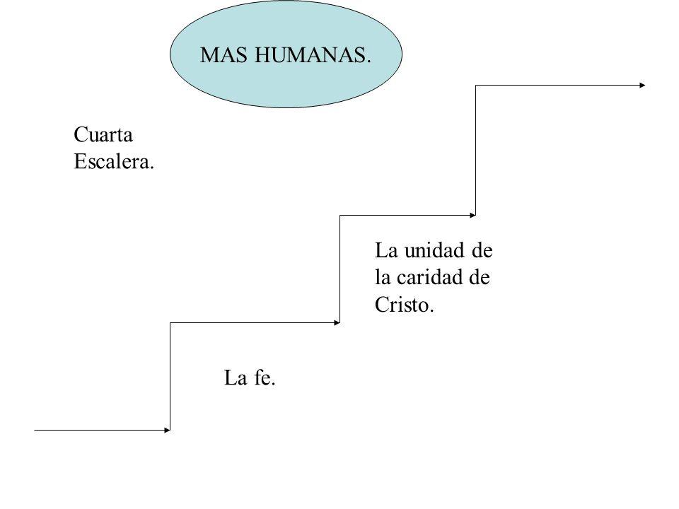 MAS HUMANAS. La unidad de la caridad de Cristo. Cuarta Escalera. La fe.