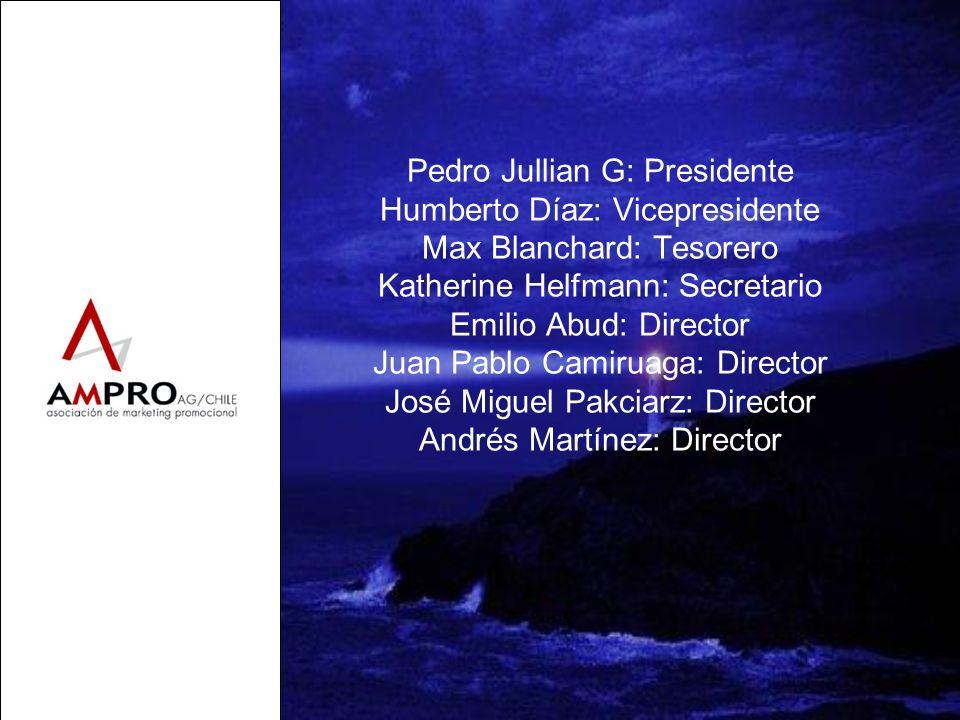 Pedro Jullian G: Presidente Humberto Díaz: Vicepresidente Max Blanchard: Tesorero Katherine Helfmann: Secretario Emilio Abud: Director Juan Pablo Cami