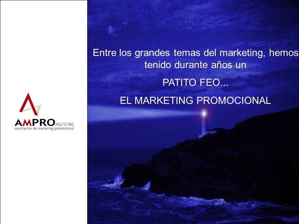 Entre los grandes temas del marketing, hemos tenido durante años un PATITO FEO... EL MARKETING PROMOCIONAL