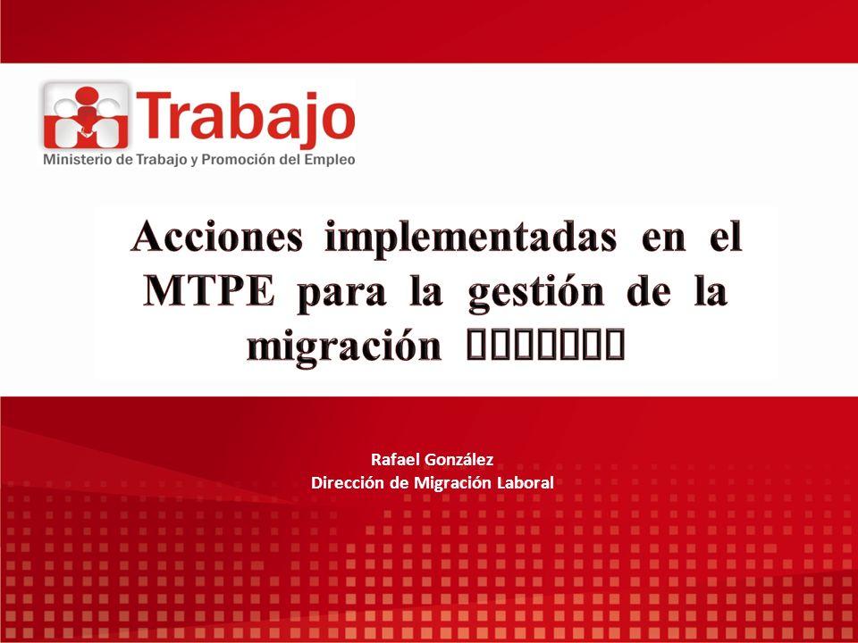 Rafael González Dirección de Migración Laboral